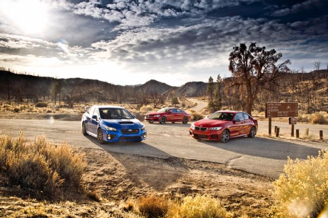 Check out MotorTrend's new caparison of the BMW M235i, MBZ CLA45 and Subarus WRX STI