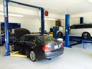 Brians Motor Works Shop Interior work bays