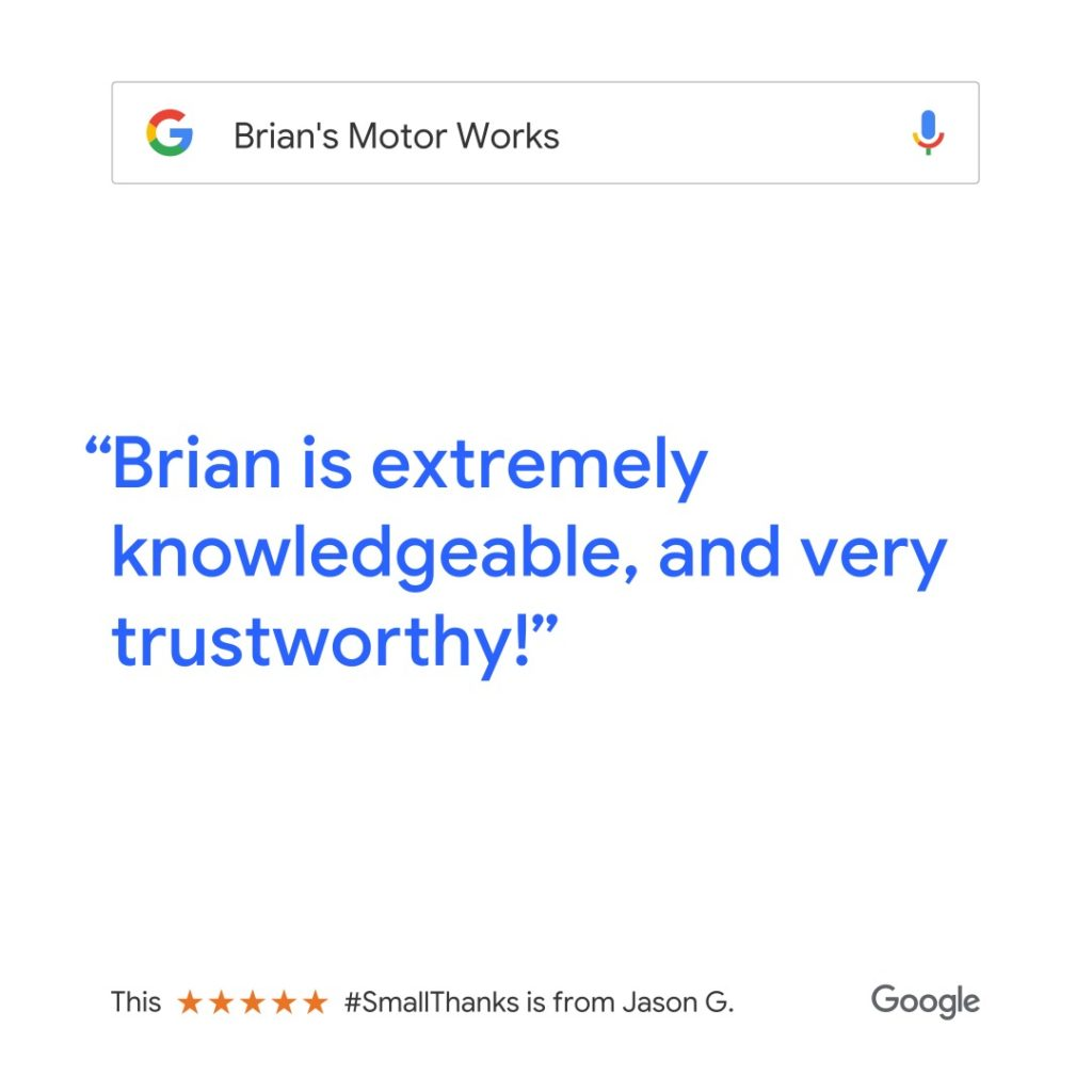 Brian is extremely knowledgeable, and very trustworthy!